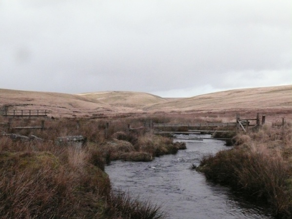Cowsic river, valley and bridge