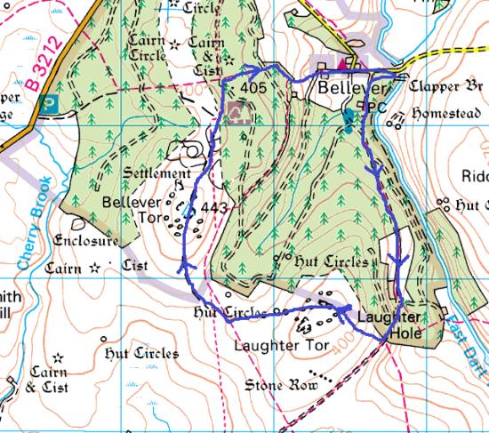 Bellever map