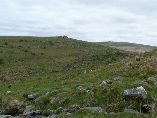 Black tor from Raddick Hill