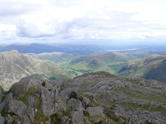 Looking from Bowfell to Great Langdale