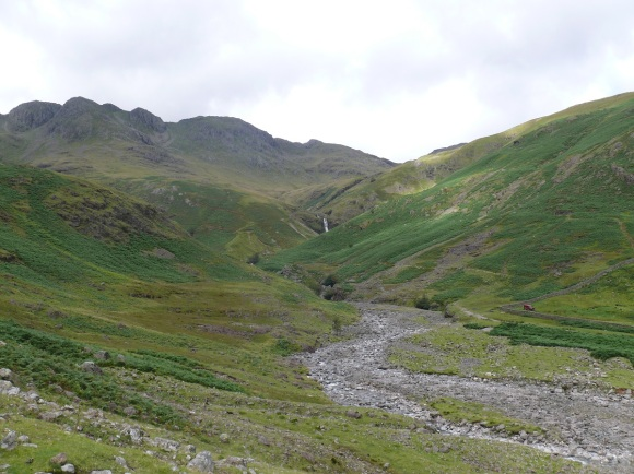 Bowfell above Whorneyside Force and Hell Gill