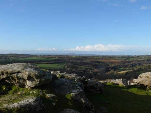 Stunning views as we reach the top above the Dewerstone