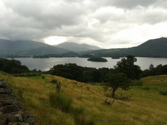 Derwent Water from the road that runs under Catbells
