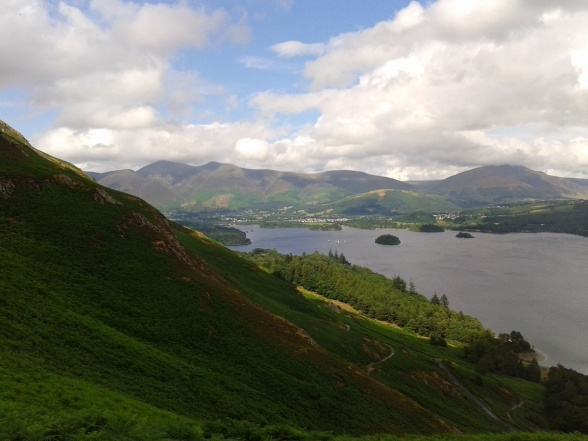 Starting the decent from Hause Gate looking down Derwent Water