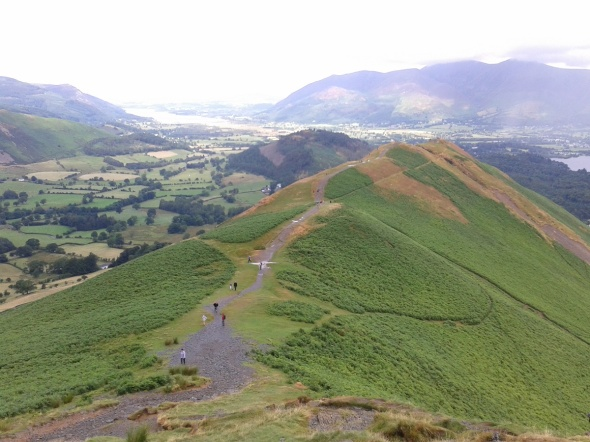 Looking back to Skelgill Bank and on to Bassenthwaite Lake