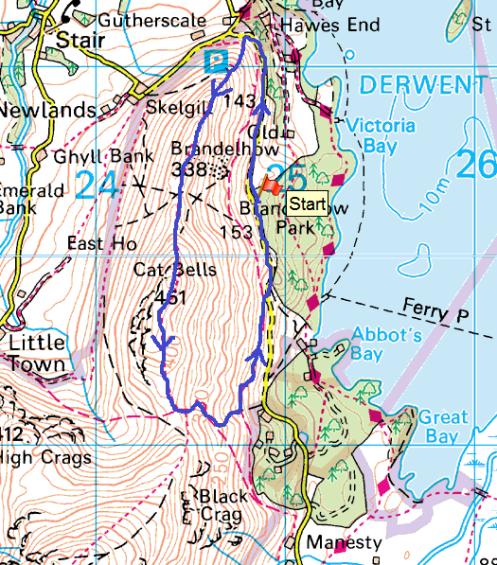 Catbells map