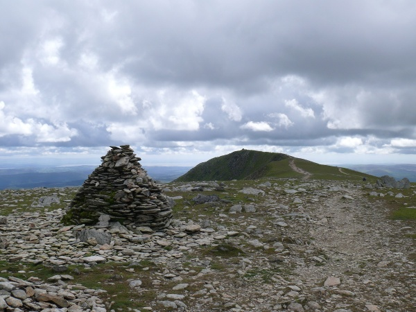 Brim Fell summit looking back to Coniston Old Man