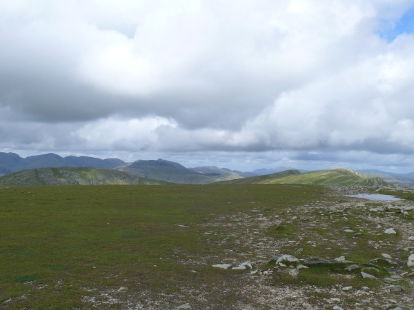 And looking the other way to Great Carrs and Swirl How with the Scafells beyond