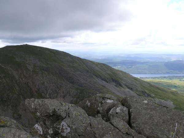 Coniston Old Man from Dow Crag summit, it was windy here so I didn't hang around!