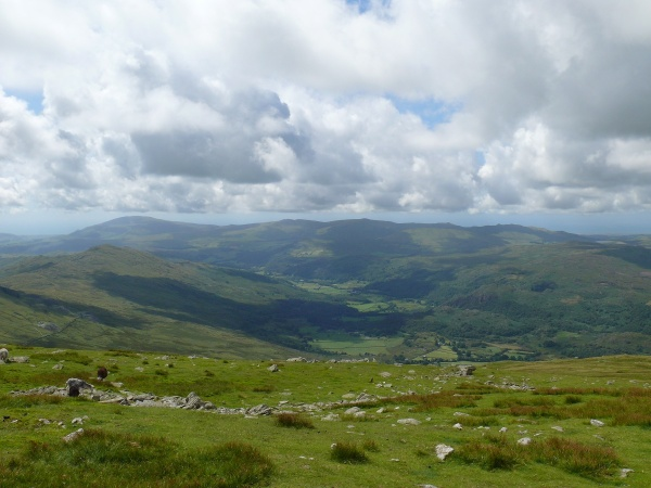 The Duddon valley with Black Combe far left
