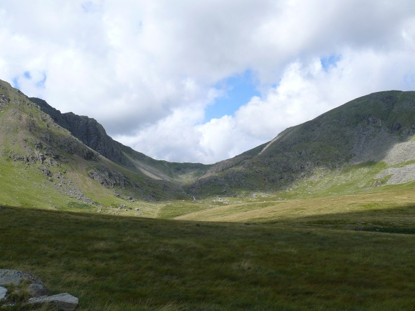 Dow Crag left and Coniston Old Man right across The Cove