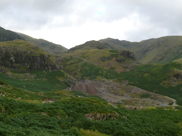 Coppermines Valley with Wetherlam above