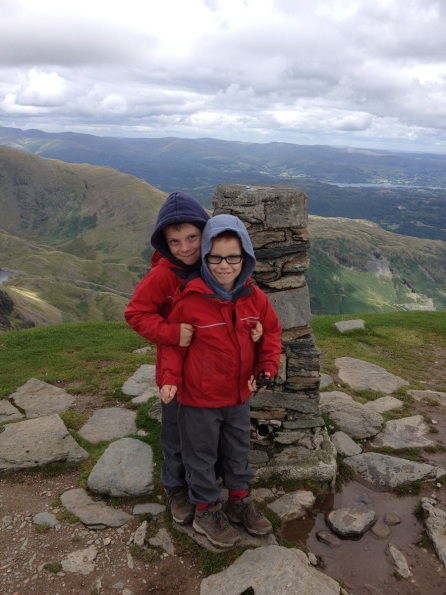 The boys on Coniston Old Man