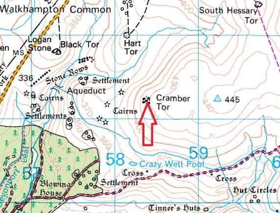 cramber-tor-map