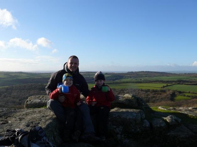 Me and the boys sat on Devil's Rocks