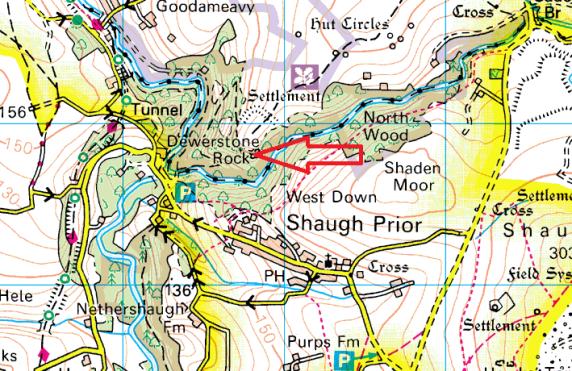 dewerstone-map