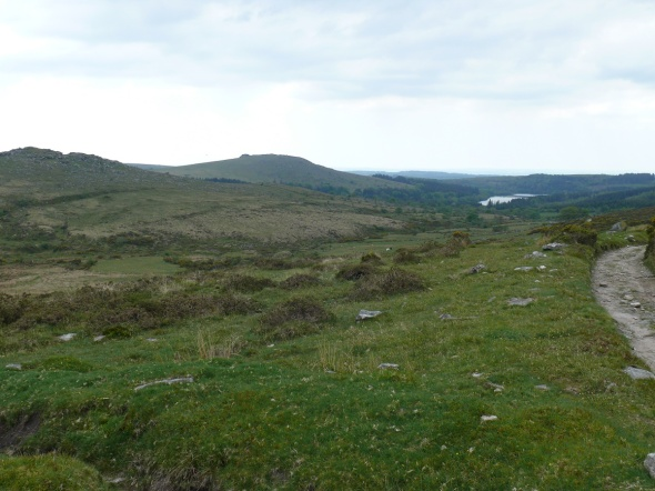 Down Tor left with Sheeps Tor beside Burrator