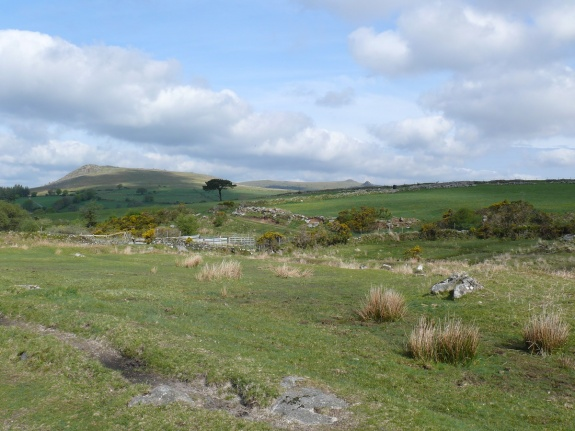 Sheeps Tor from the start of the path to Ditsworthy Warren House