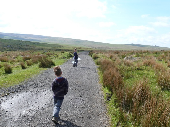 On the track to Ditsworthy Warren House
