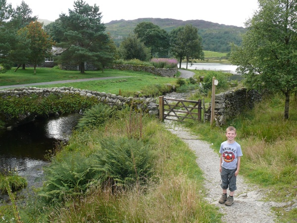 Watendlath Bridge at the start of the walk