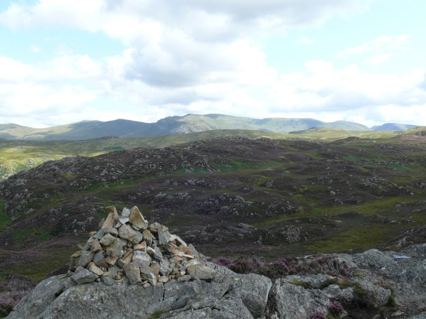 The Helvellyn range from Great Crag