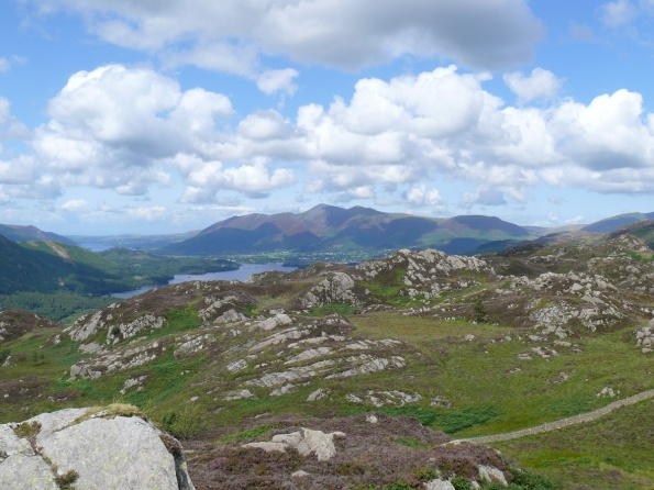Great view to Derwent Water and Skiddaw