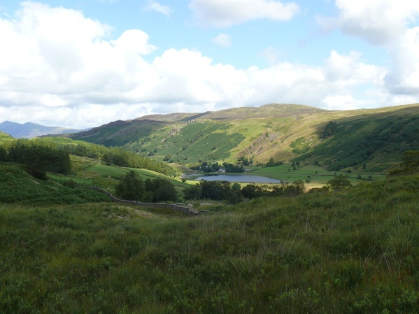 Looking back to Watendlath as we climb