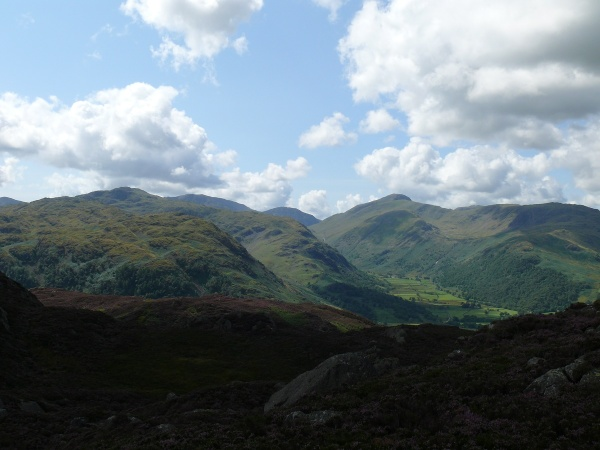 Fabulous view into Borrowdale from Great Crag