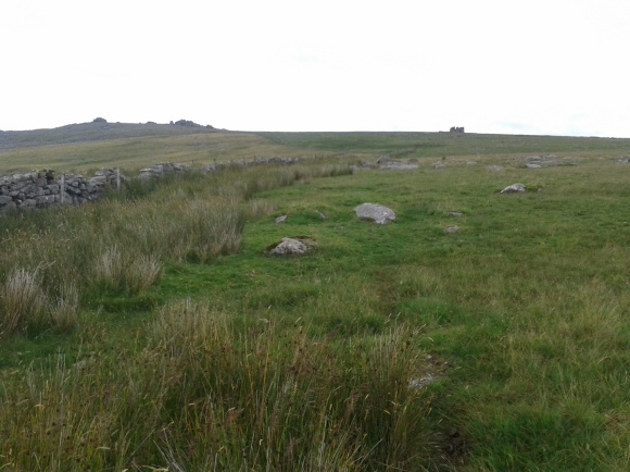 Looking back up at Great Mis Tor left with Little Mis to the right