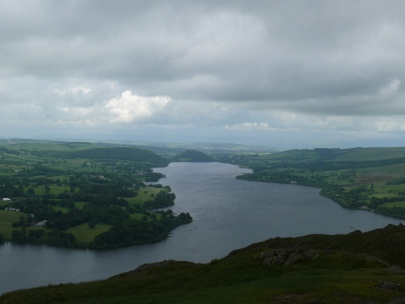 Ullswater from the top of Hallin Fell