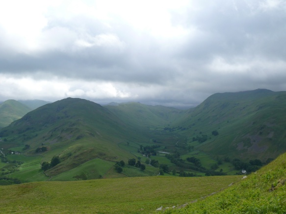 Looking into Boredale with Place Fell up on the right