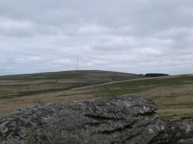 Looking to North Hessary Tor and the mast from Hart Tor