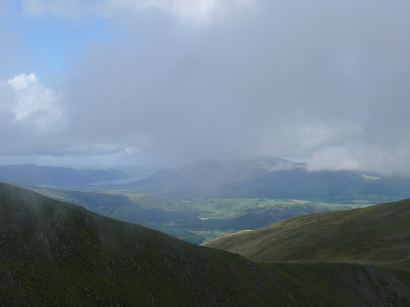 Zoomed in on Skiddaw from Helvellyn