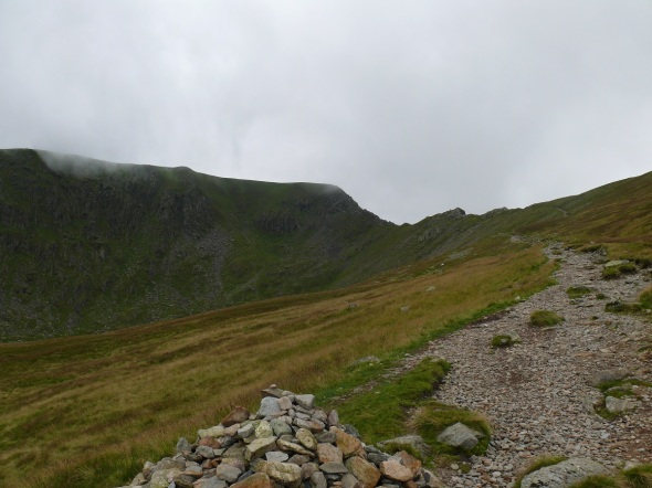 Swirral Edge from the path down and back to the Hole in the Wall