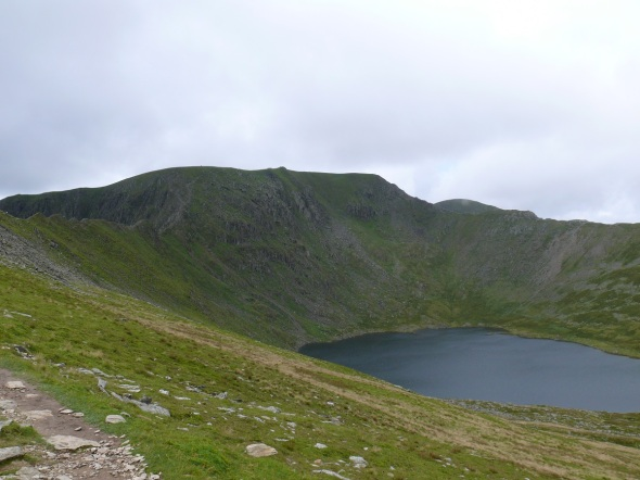 Red Tarn beneath Helvellyn, Swirral Edge on the far side