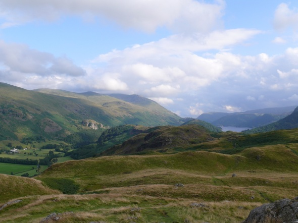 Helvellyn high on the left above Thirlmere