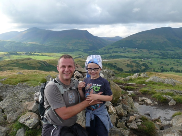 Me and my youngest on High Rigg