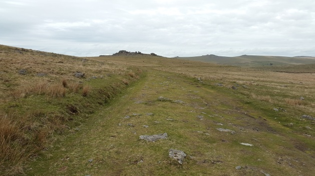 Looking back up at Kings Tor from the old Plymouth to Princetown railway track