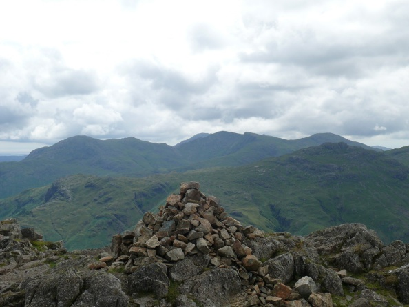 Harrison Stickle summit with the Coniston range behind
