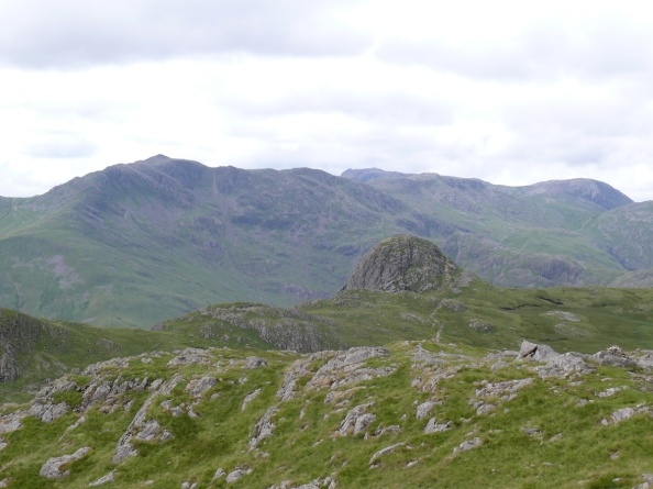 Looking down to Pike O'Stickle