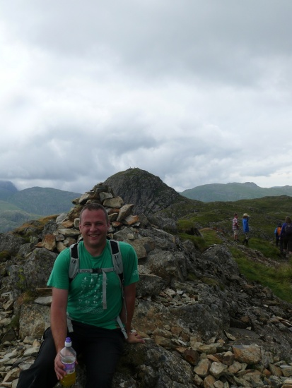 Me again on Loft Crag this time, Pike O'Stickle behind