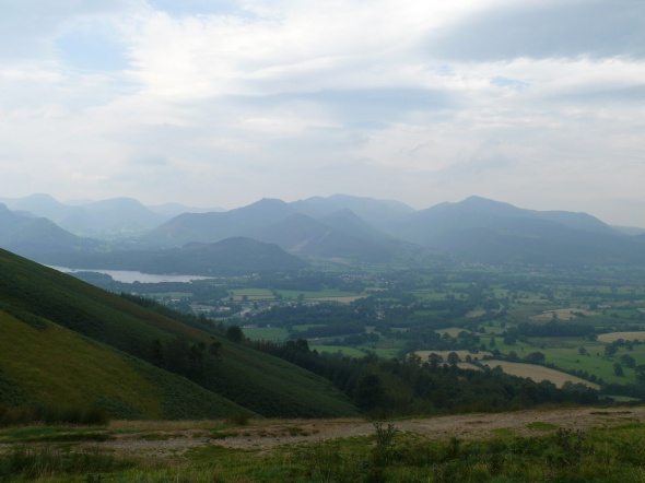 Views to the North Western Fells with a peek of Derwent Water