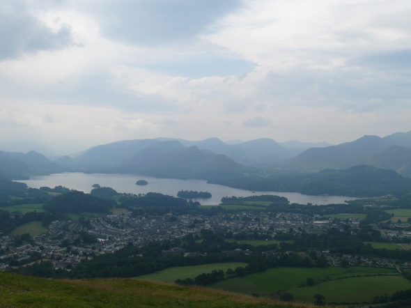 Derwent Water and too many fells to count.