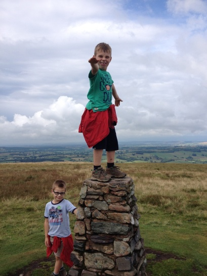 Trig surfing on Little Mell Fell