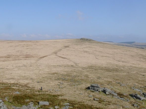 Looking to Higher White Tor from the summit