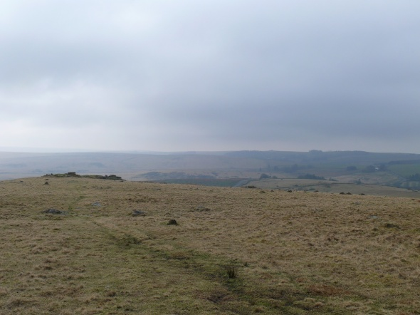 Looking back at Crocken Tor