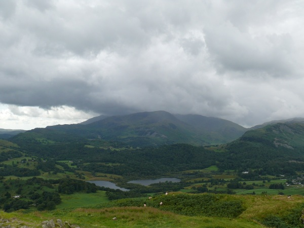 Cloud gathers over the Coniston range