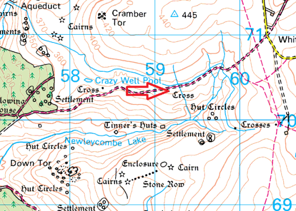 newleycombe-cross-map