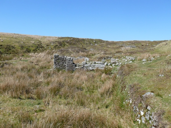 Tin mine workings near to Eylesbarrow