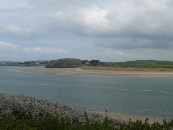 Looking across Padstow estuary towards St Enodoc and the golf course